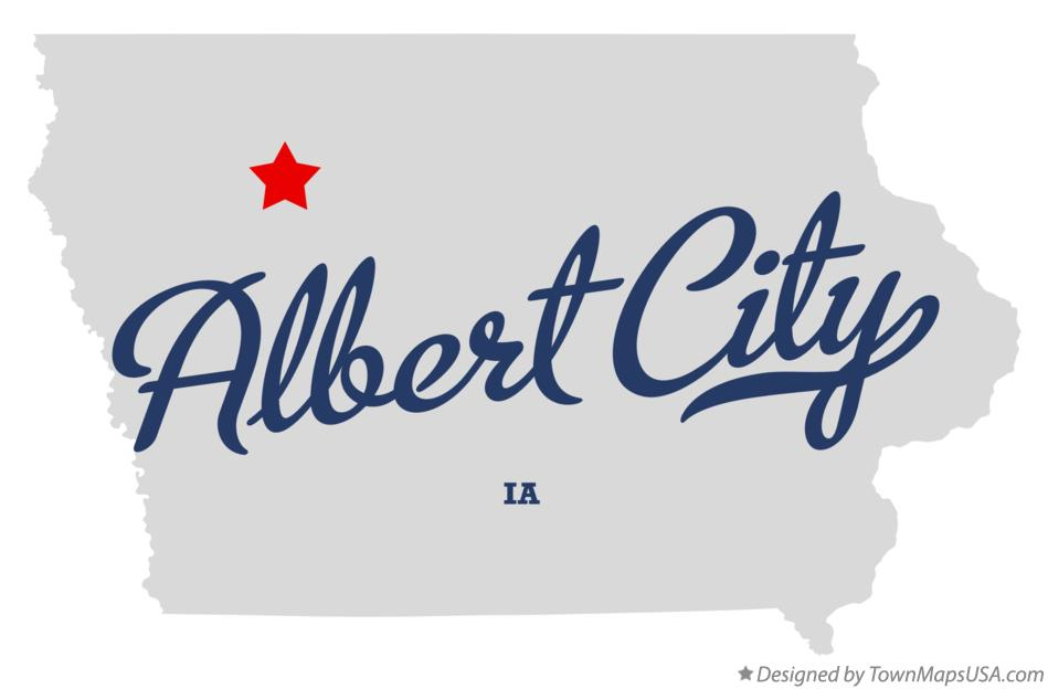 Map of Albert City Iowa IA