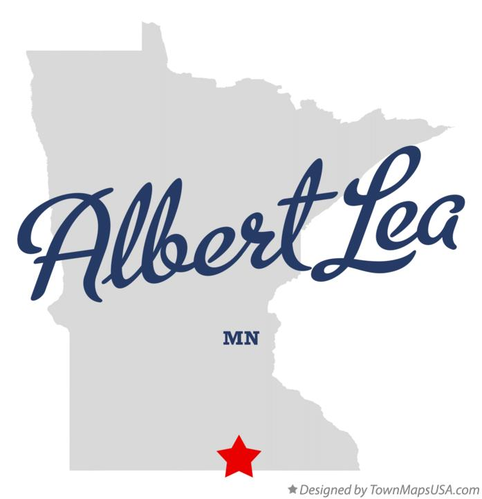 Map of Albert Lea Minnesota MN
