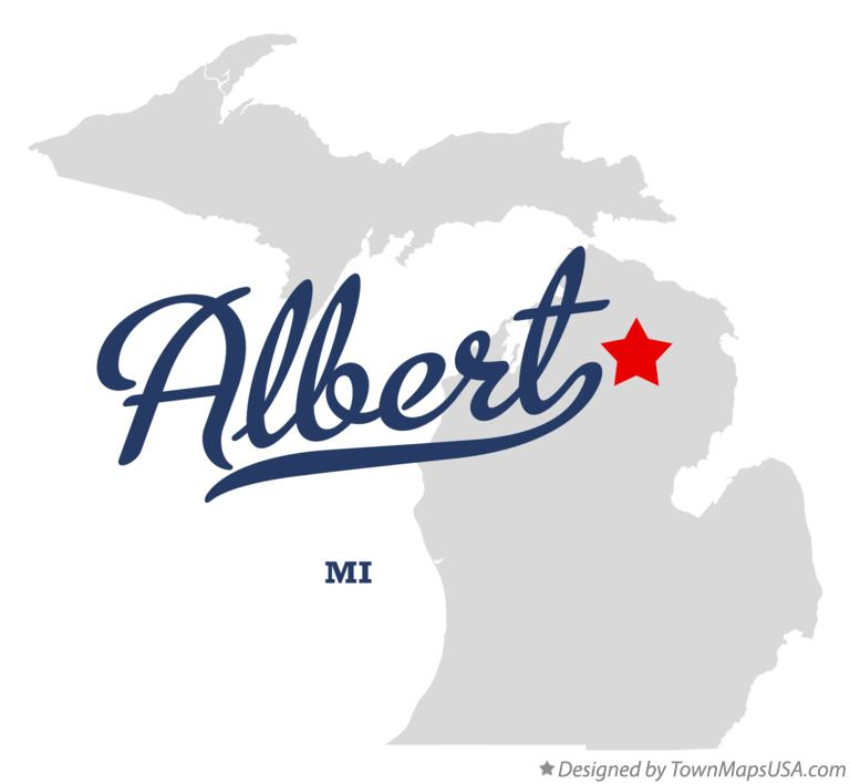 Map of Albert Michigan MI
