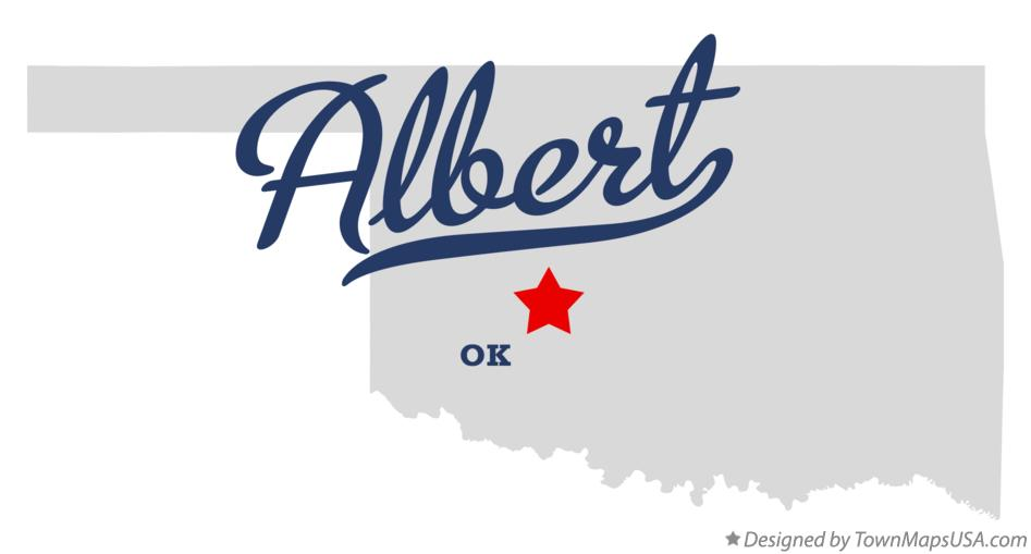 Map of Albert Oklahoma OK