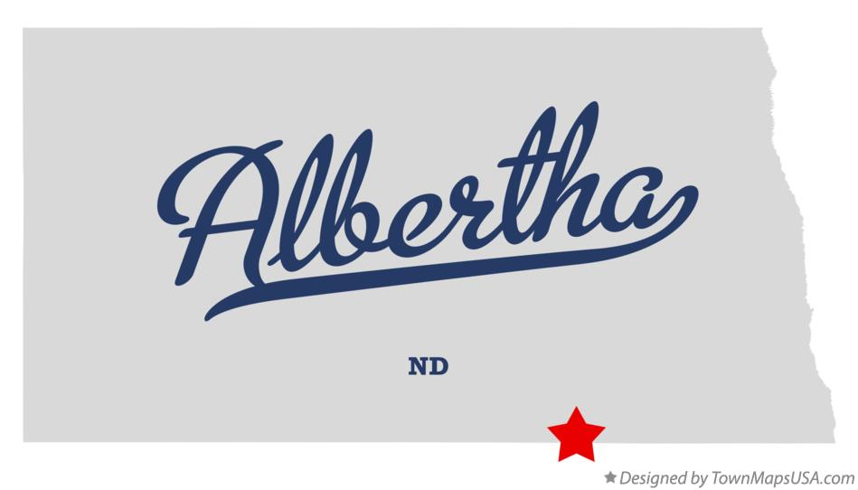 Map of Albertha North Dakota ND