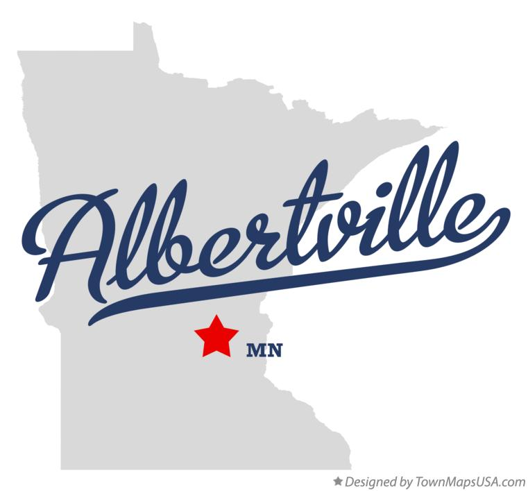 Map of Albertville Minnesota MN