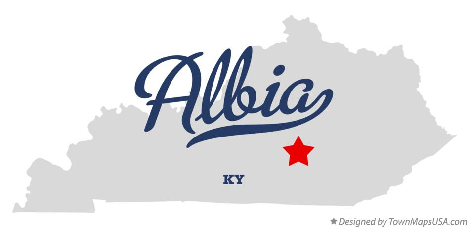 Map of Albia Kentucky KY