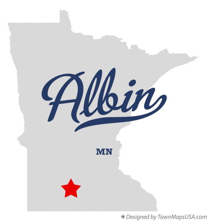 Map of Albin Minnesota MN
