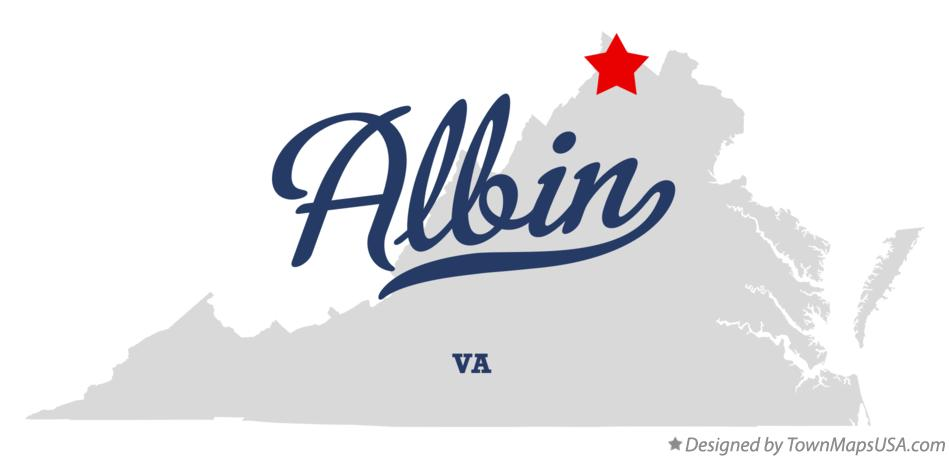 Map of Albin Virginia VA
