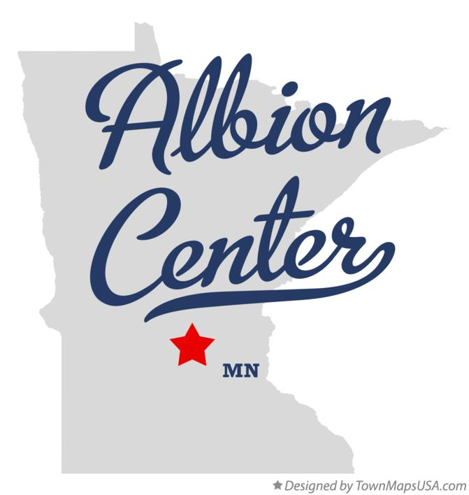 Map of Albion Center Minnesota MN