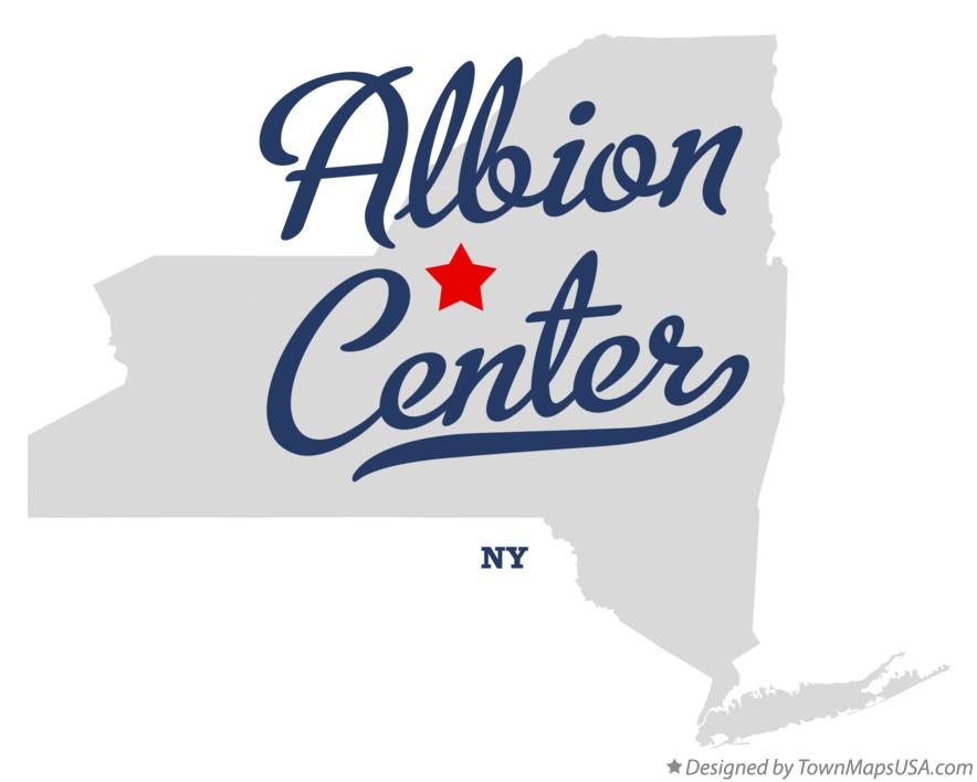 Map of Albion Center New York NY