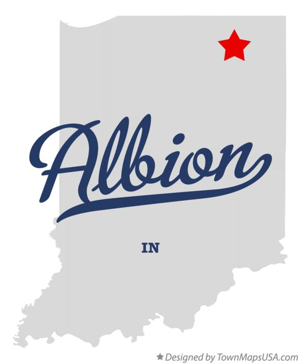 Map of Albion Indiana IN