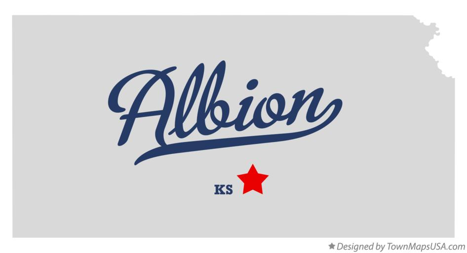 Map of Albion Kansas KS