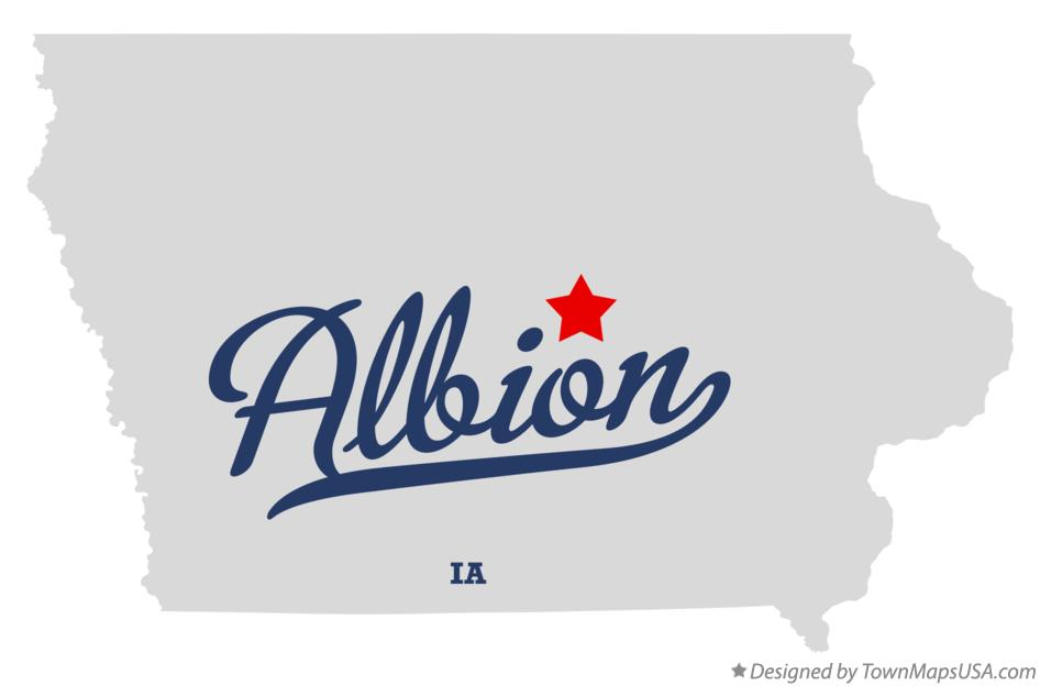 Map of Albion Iowa IA
