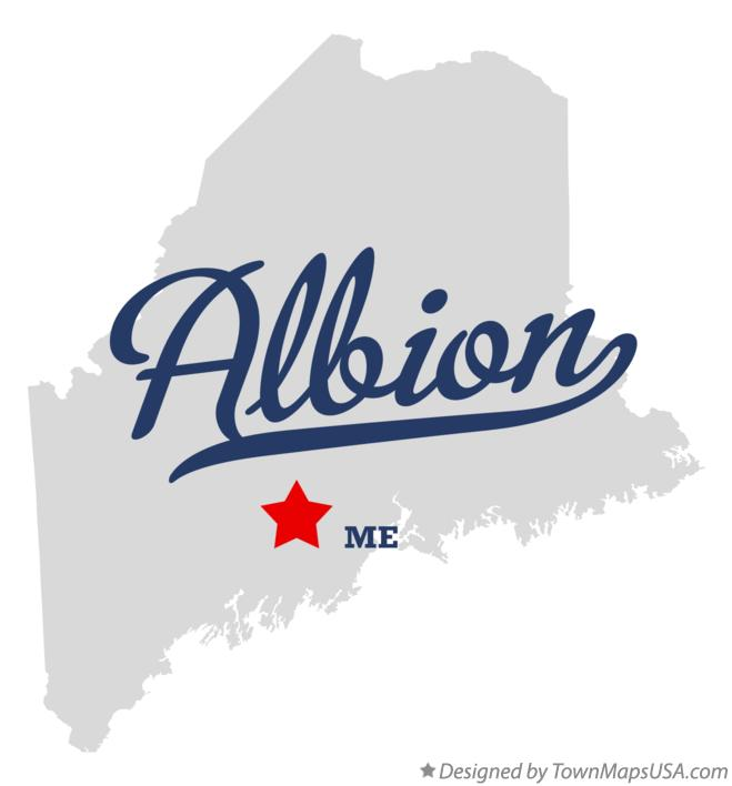 Map of Albion Maine ME