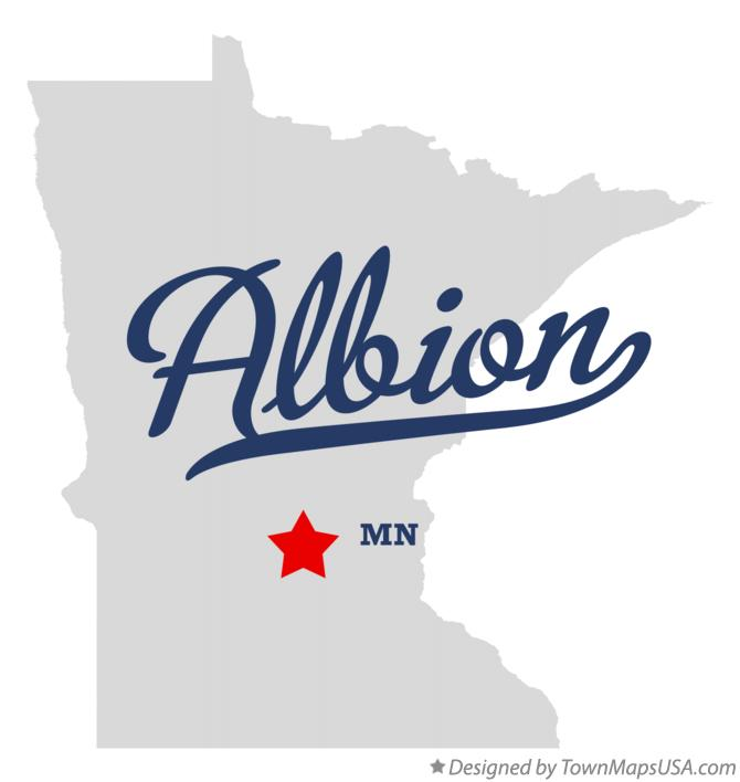 Map of Albion Minnesota MN
