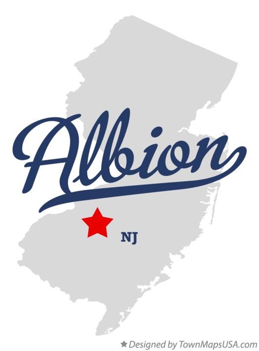 Map of Albion New Jersey NJ