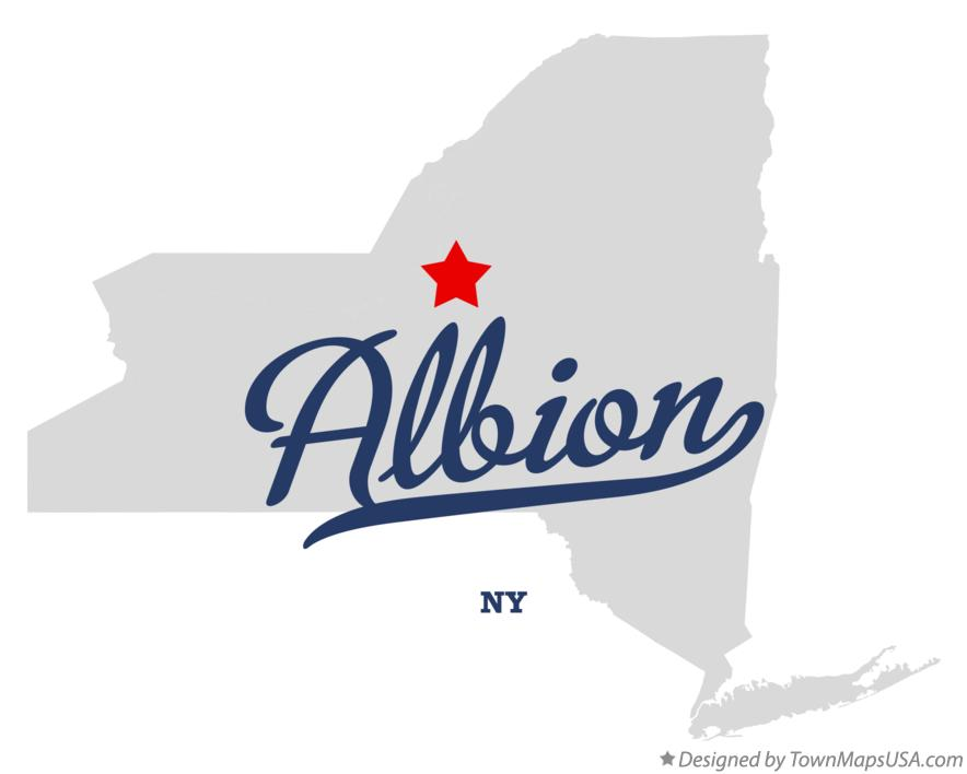 Map of Albion New York NY