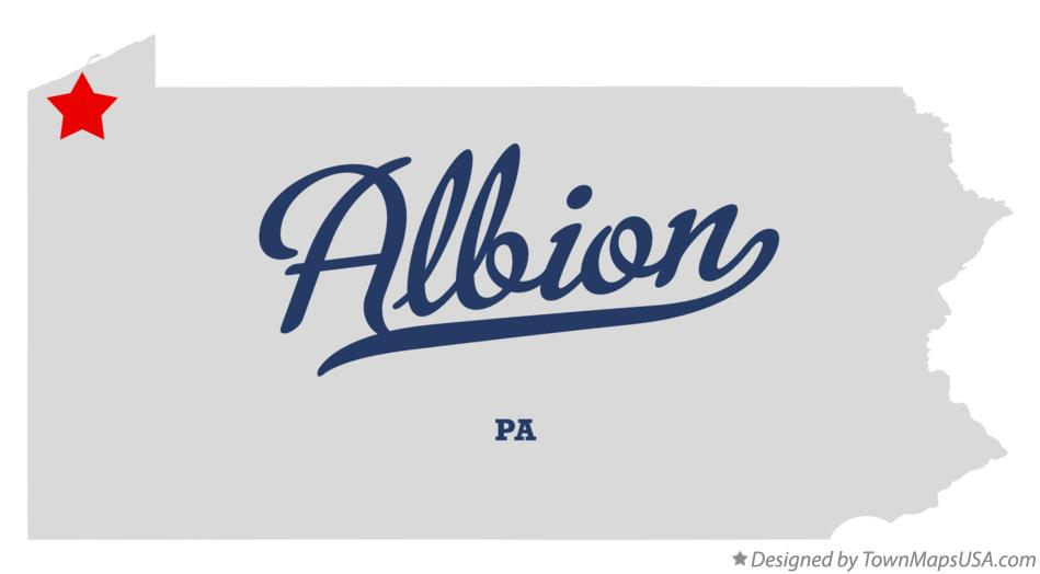 Map of Albion Pennsylvania PA