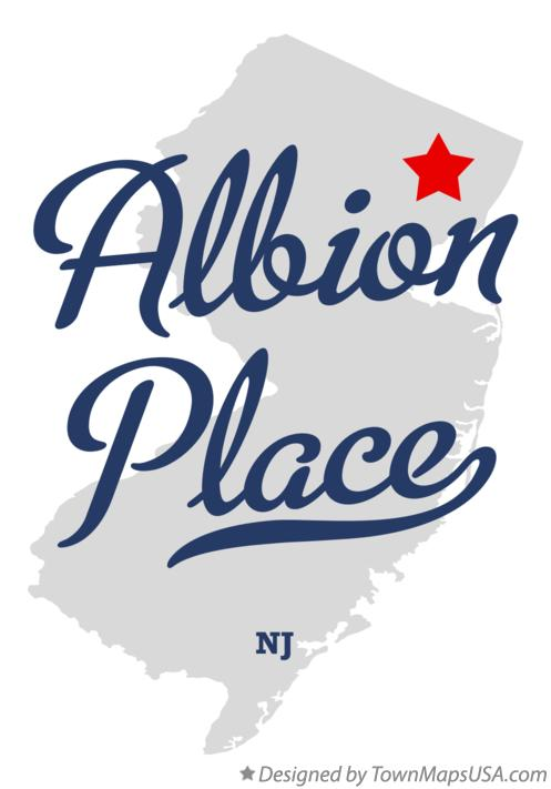 Map of Albion Place New Jersey NJ