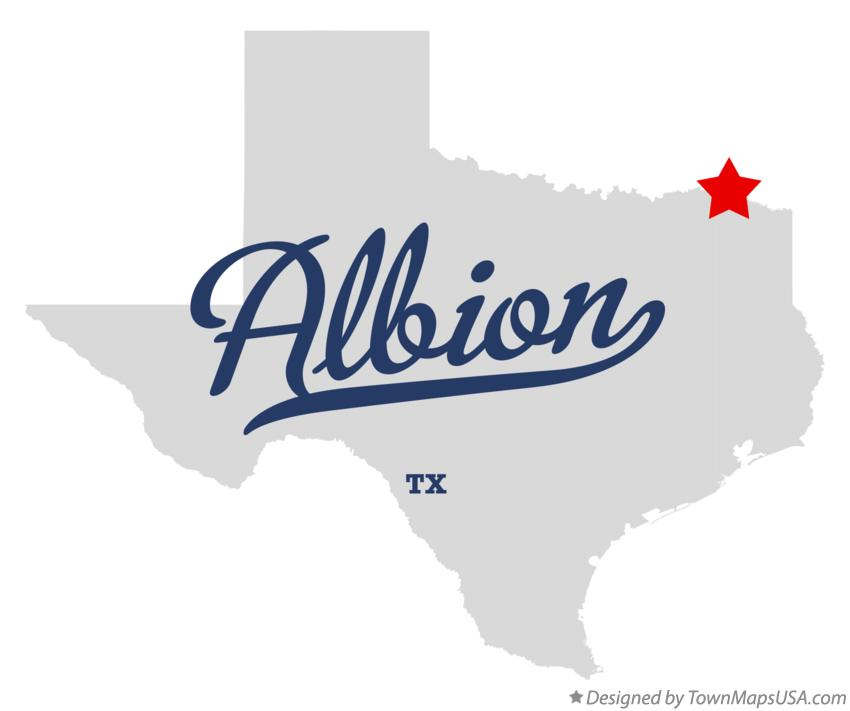 Map of Albion Texas TX