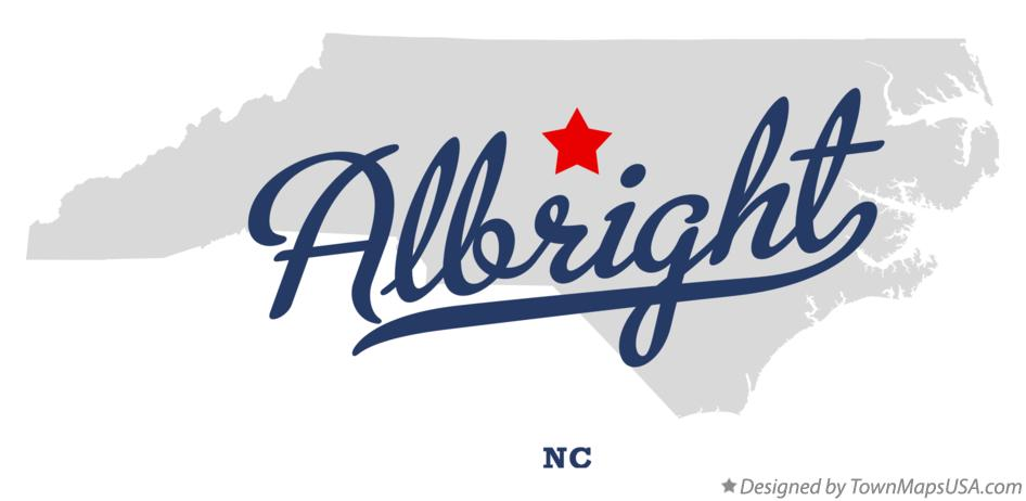 Map of Albright North Carolina NC