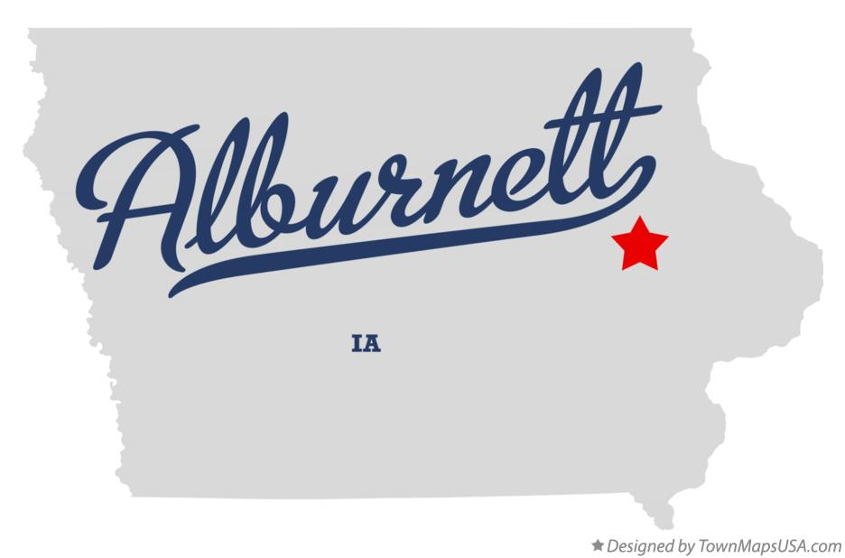 Map of Alburnett Iowa IA
