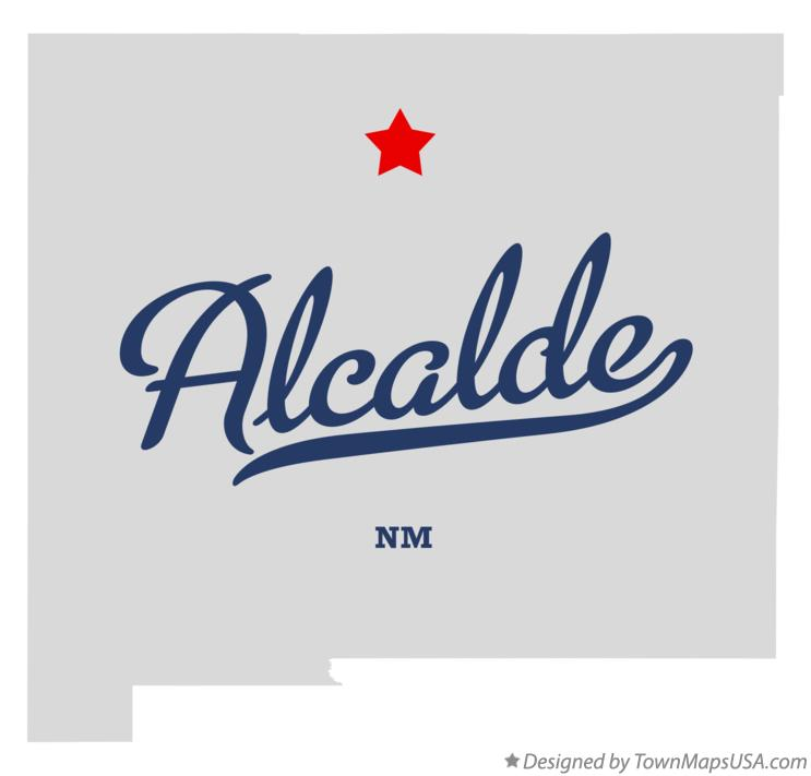 Map of Alcalde New Mexico NM