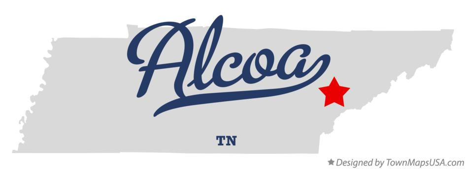 Map of Alcoa, TN, Tennessee