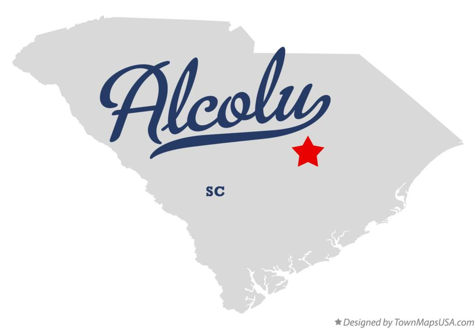 Map of Alcolu South Carolina SC