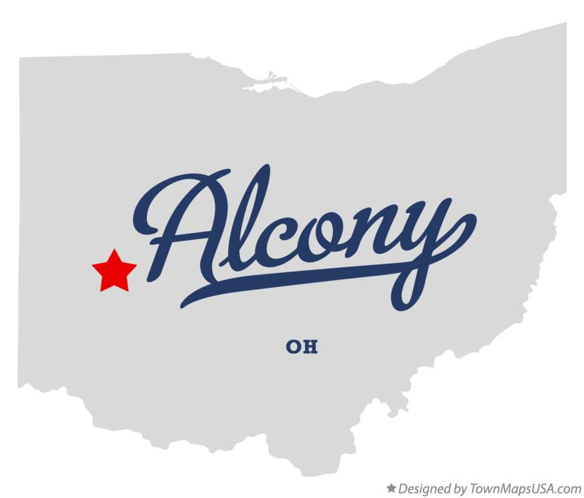 Map of Alcony Ohio OH