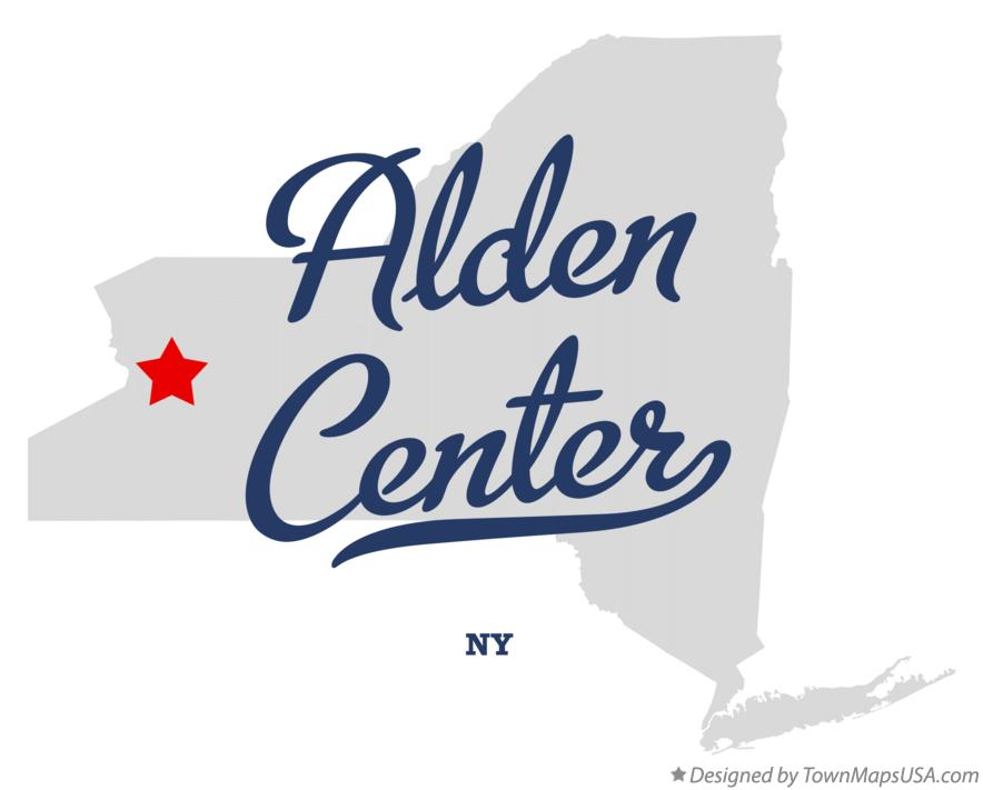 Map of Alden Center New York NY