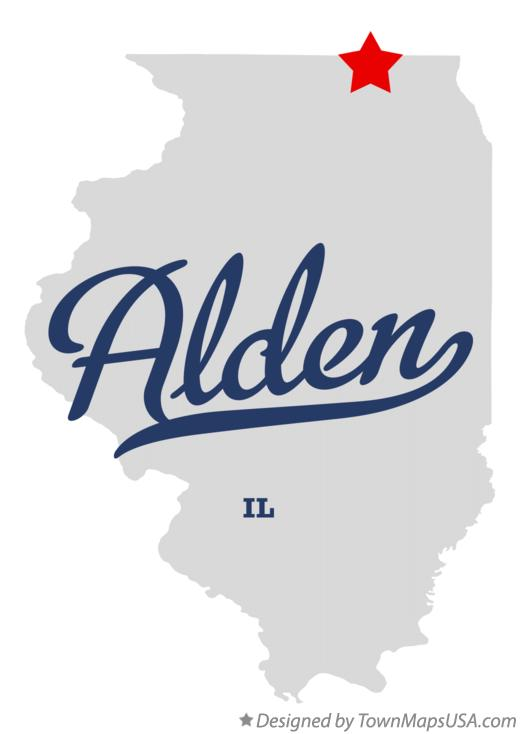 Map of Alden, IL, Illinois