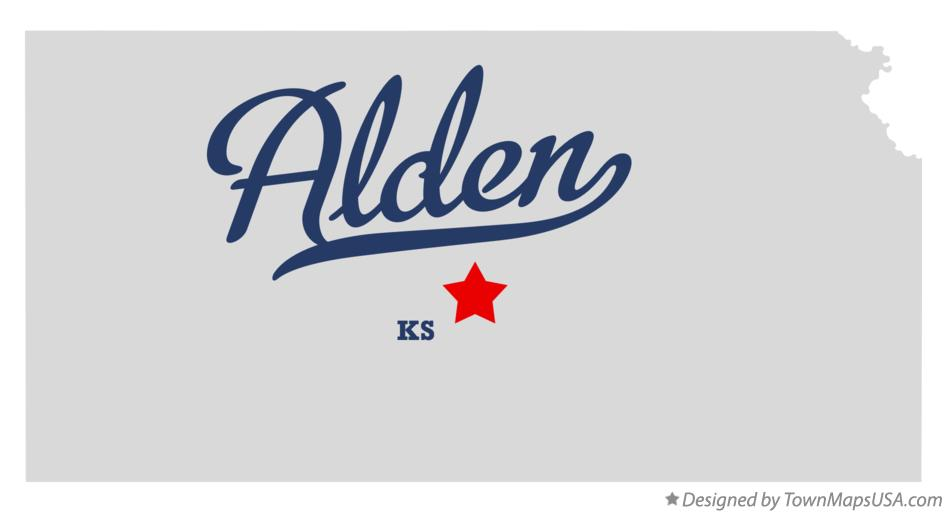 Map of Alden Kansas KS