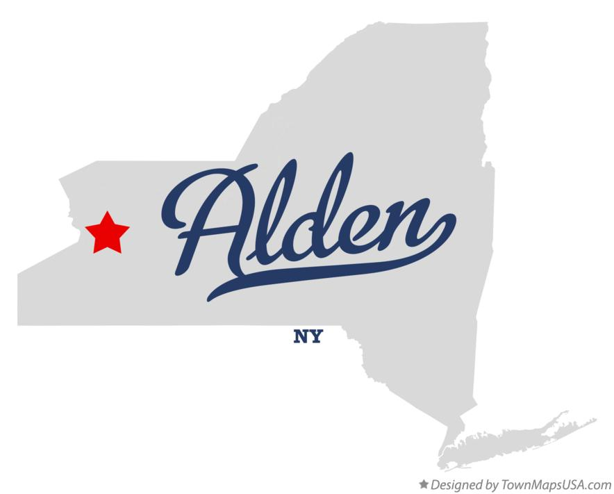 Map of Alden New York NY