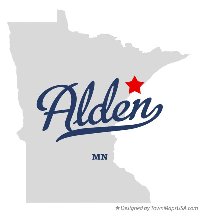 Map of Alden Minnesota MN