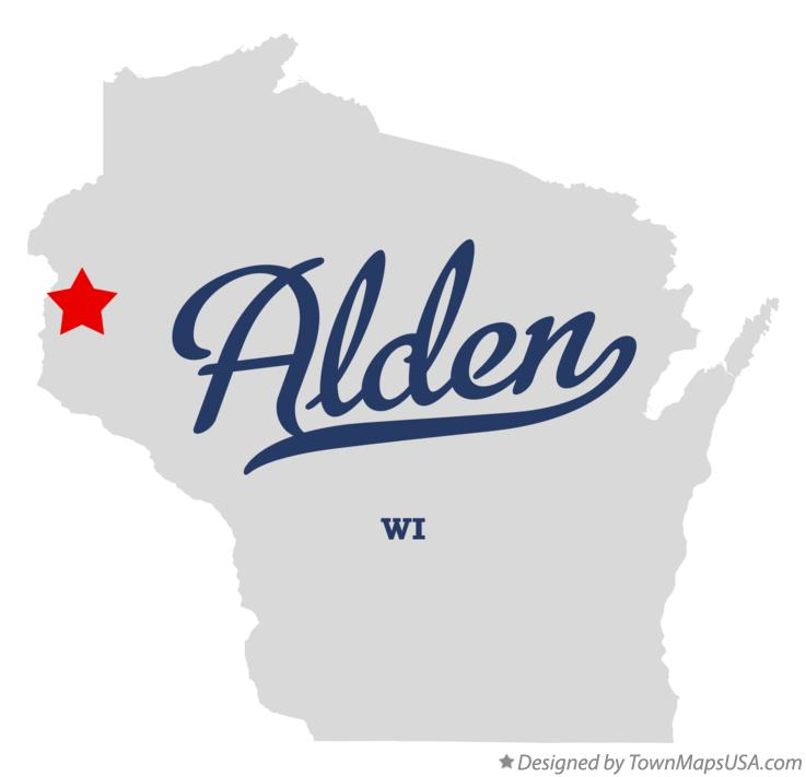 Map of Alden Wisconsin WI
