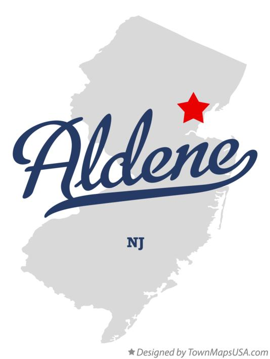 Map of Aldene New Jersey NJ