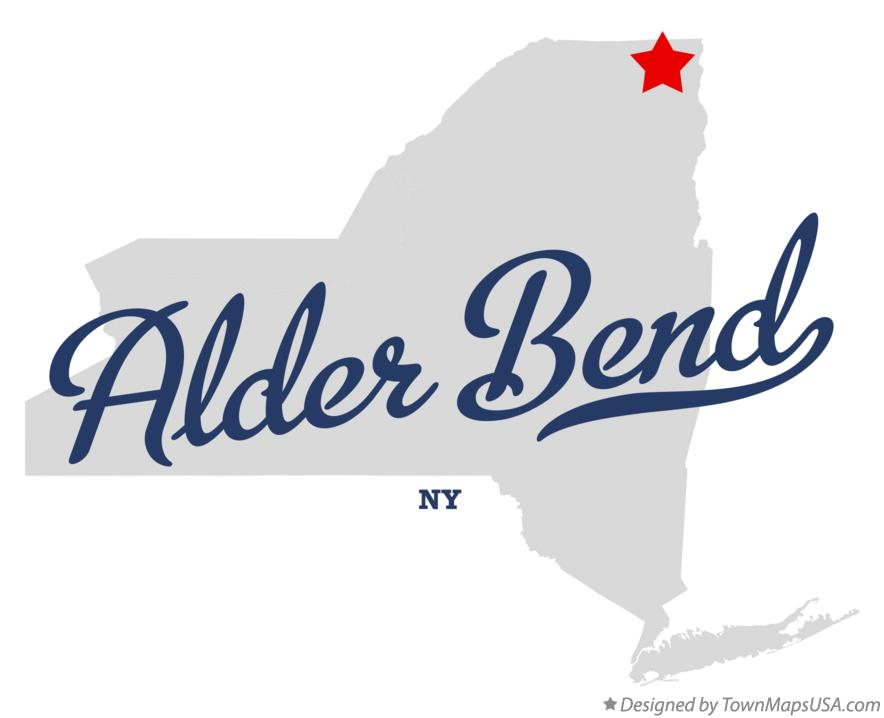 Map of Alder Bend New York NY