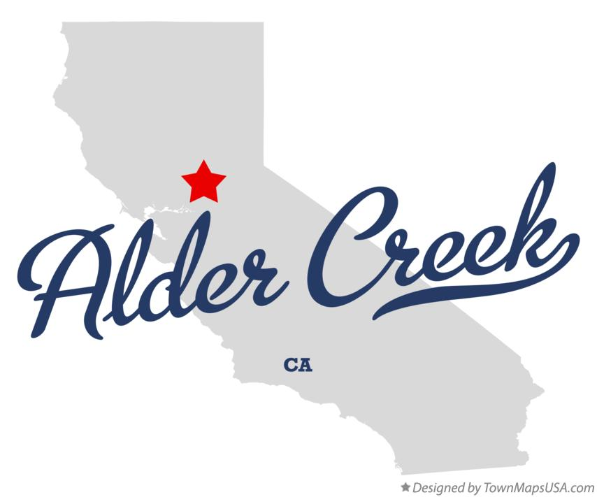 Map of Alder Creek California CA
