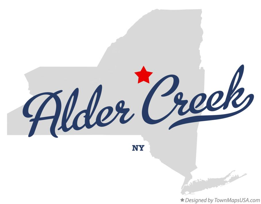 Map of Alder Creek New York NY