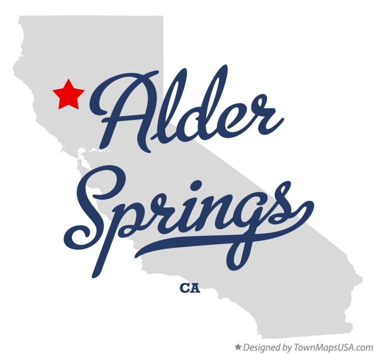 Map of Alder Springs California CA