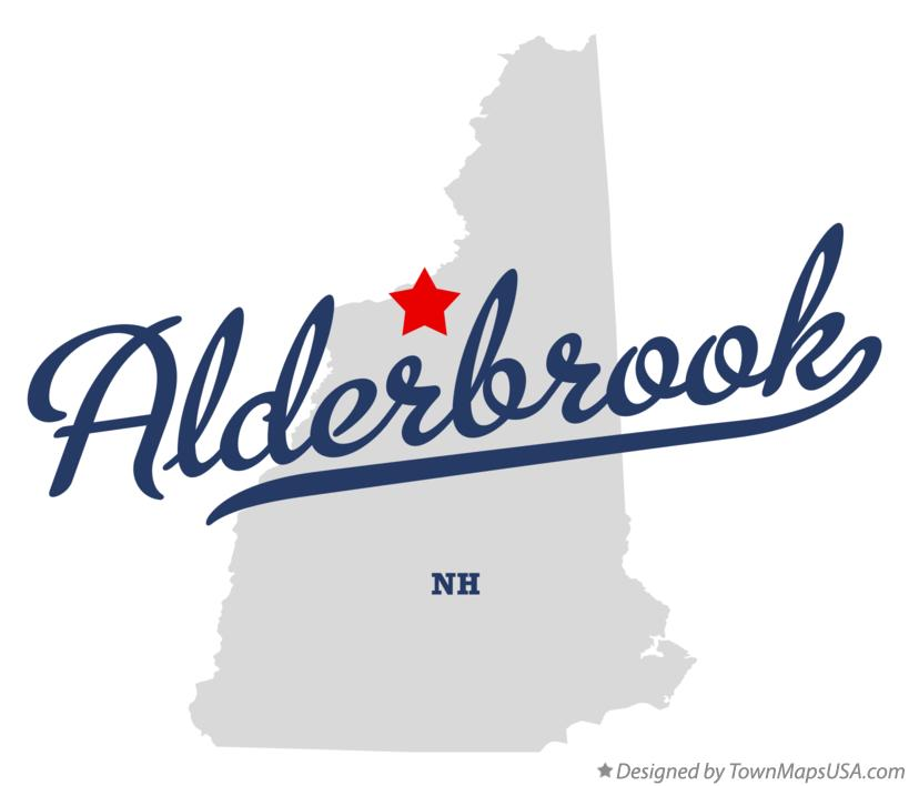 Map of Alderbrook New Hampshire NH
