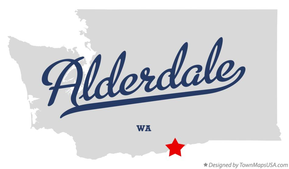 Map of Alderdale Washington WA