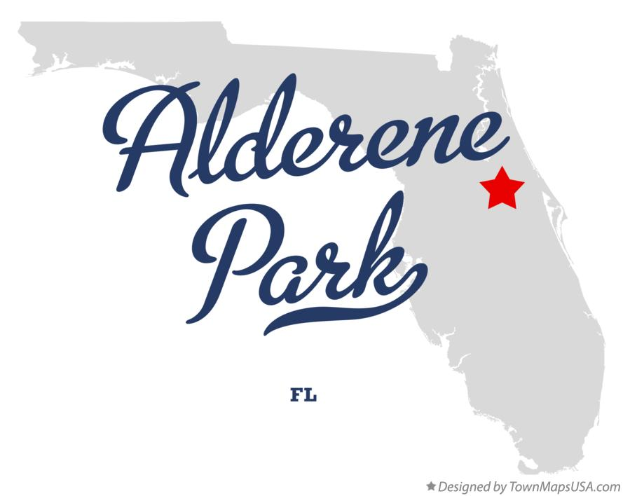Map of Alderene Park Florida FL