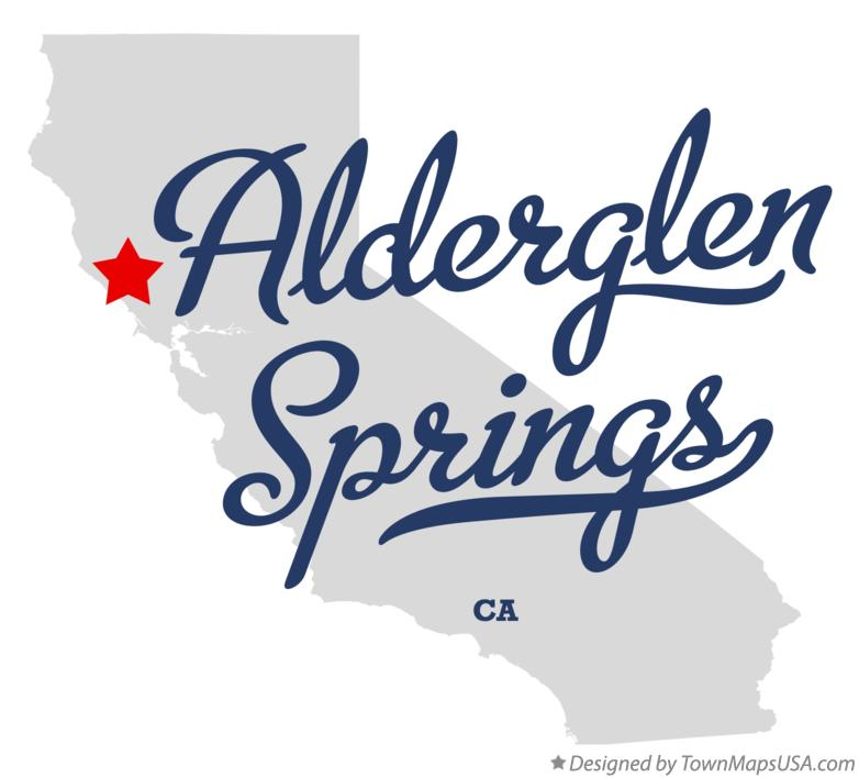 Map of Alderglen Springs California CA