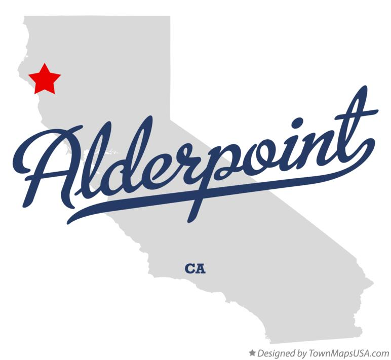 Map of Alderpoint California CA