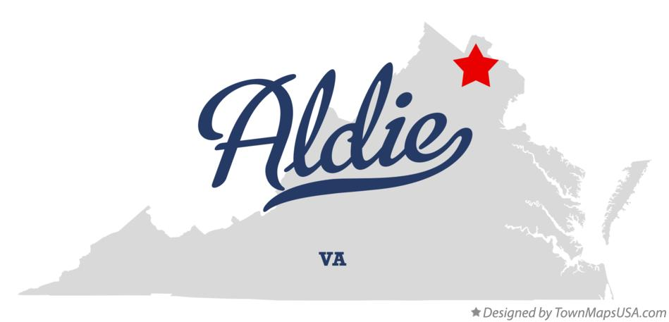 Map of Aldie Virginia VA