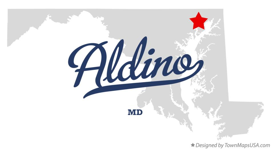 Map of Aldino Maryland MD