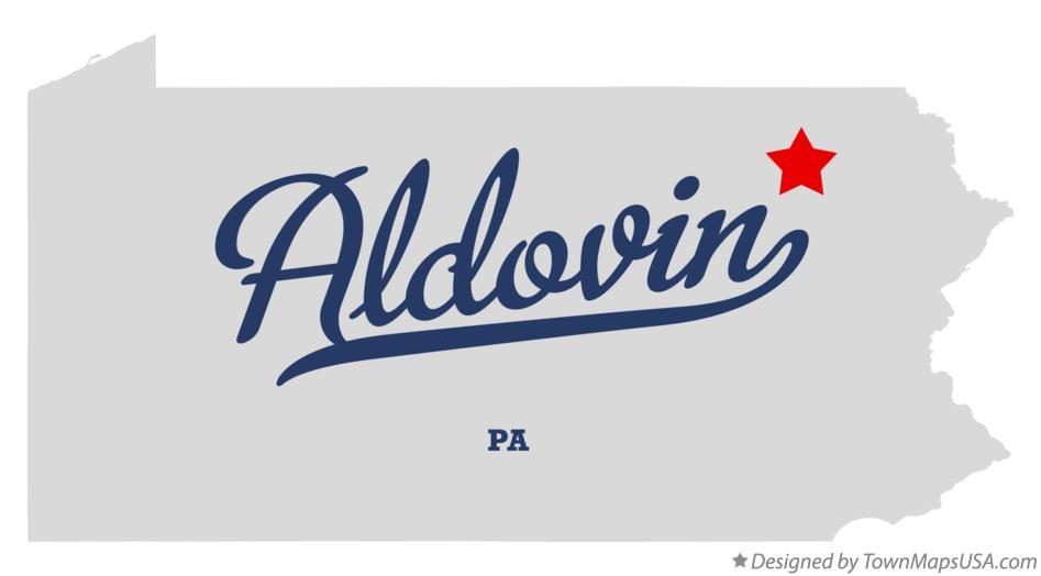 Map of Aldovin Pennsylvania PA