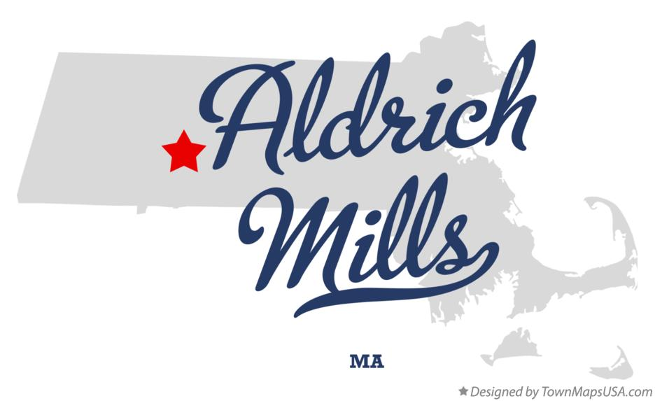 Map of Aldrich Mills Massachusetts MA
