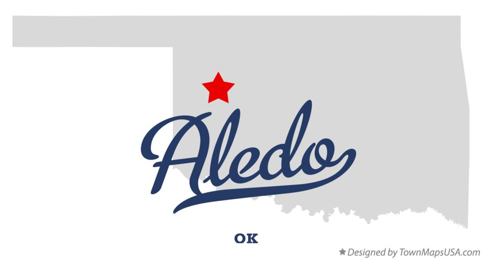 Map of Aledo Oklahoma OK