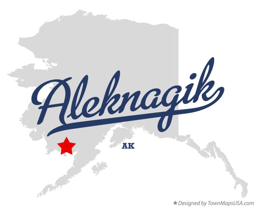 Map of Aleknagik Alaska AK