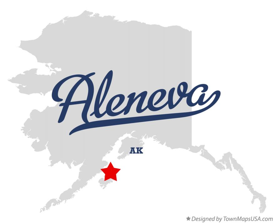Map of Aleneva Alaska AK